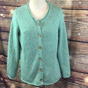 L. L. Bean | Cardigan in Spring Green 6 Button XL